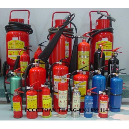 các loại bình bột chữa cháy được sử dụng phổ biến tại bắc giang